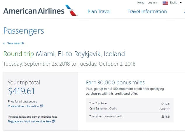 Miami to Iceland $420-$430 RT Airfares on American Airlines (travel Aug-Oct)