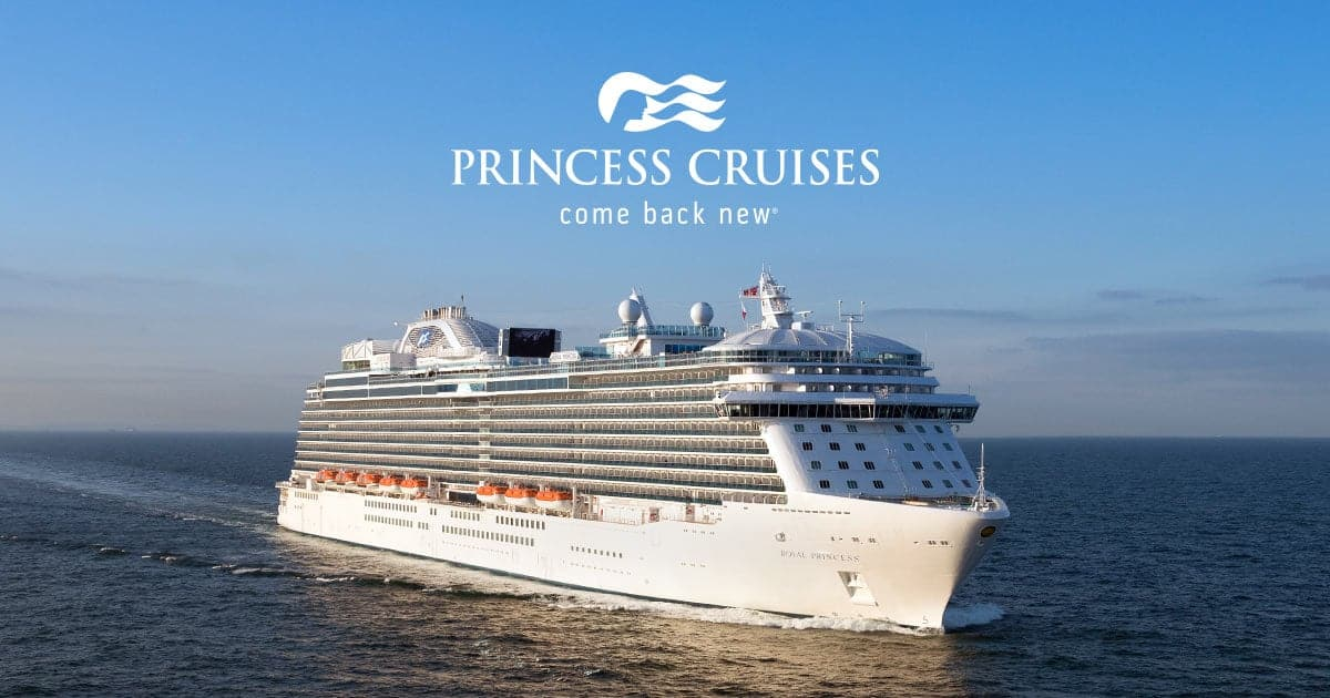 Princess Cruises 'Come Back New' Sale - Free Gratuities & Up to $300 Off Air