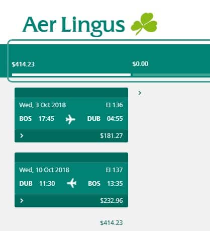 Boston or Philadelphia to Dublin Ireland $414 RT Airfare on Aer Lingus (Travel Sept-Oct)