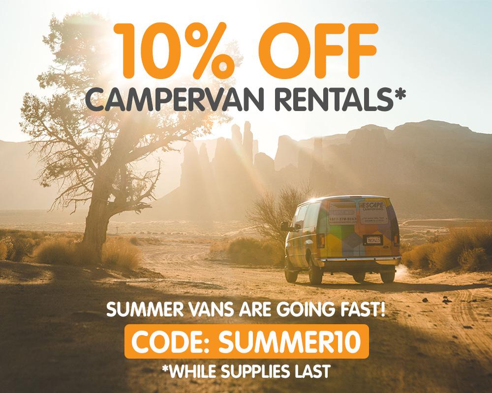 Escape Campervans 10% Off Promo Code