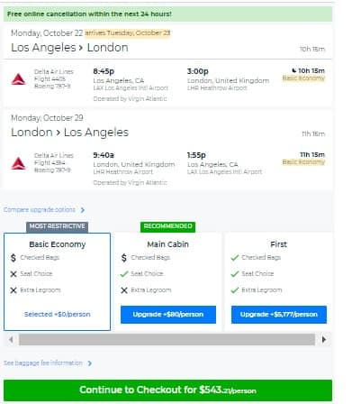 Los Angeles to London $543 RT Nonstop on Several Airlines BE (travel Oct-Dec)