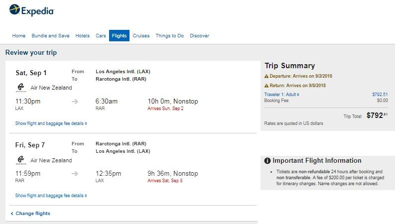 Los Angeles to Cook Ilsands $793 RT Nonstop on Air New Zealand (Travel July Sept Nov Dec)