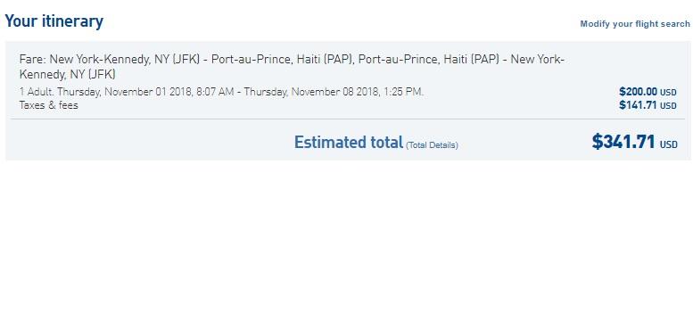 New York to Haiti $342 RT Nonstop Airfare on JetBlue (Travel Sept-Nov)