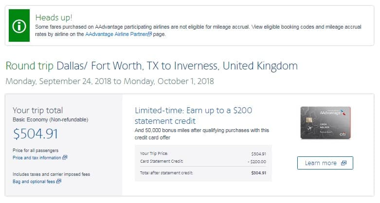 Dallas to Inverness Scotland $505 RT Airfare on One World Airlines BE (Travel Sept-Dec)