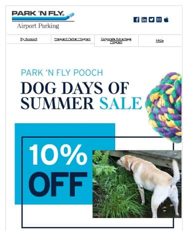 Park n Fly Airport Parking - 10% Off 'Dog Days Of Summer' Promo - Book by July 30, 2018
