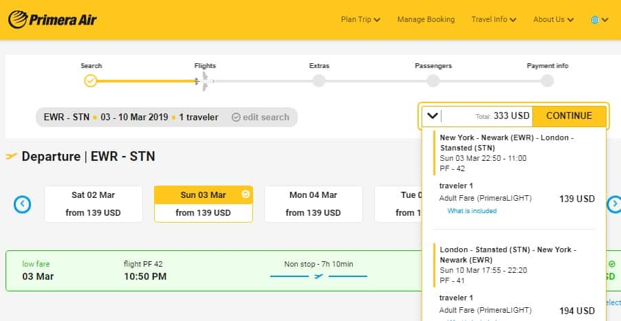 New Jersey to London UK $333 RT Nonstop on Primera Air (Travel Jan-March 2019)