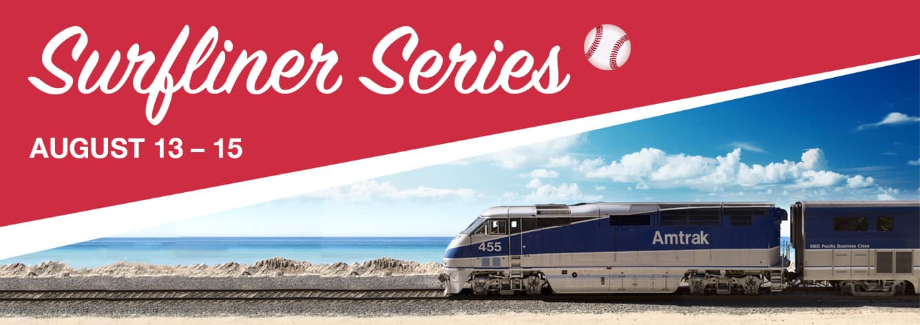 Amtrak Pacific Surfliner Series (Angels vs Padres Aug 13-15) Save 20% Off Game Tickets and 15% Off Train Tickets