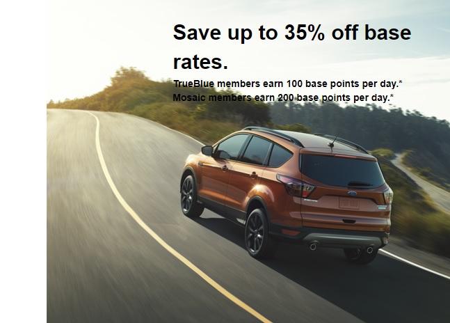 Budget Avis Payless Rent A Car - 35% Off Base Rates Plus 100 Jetblue Bonus Points