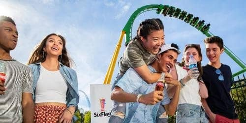 Six Flags Magic Mountain Theme Park in CA 40% Off General Admission - Expires July 21, 2019 $54