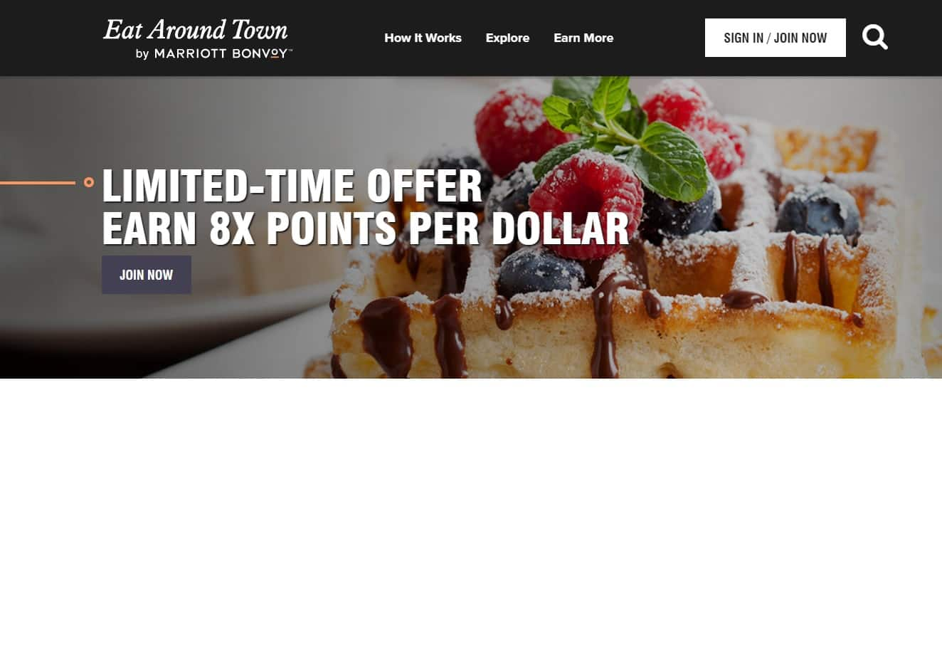 Marriott Bonvoy New 'Eat Around Town' Earn Points for Dining - 8x Points Per Dollars for Limited Time