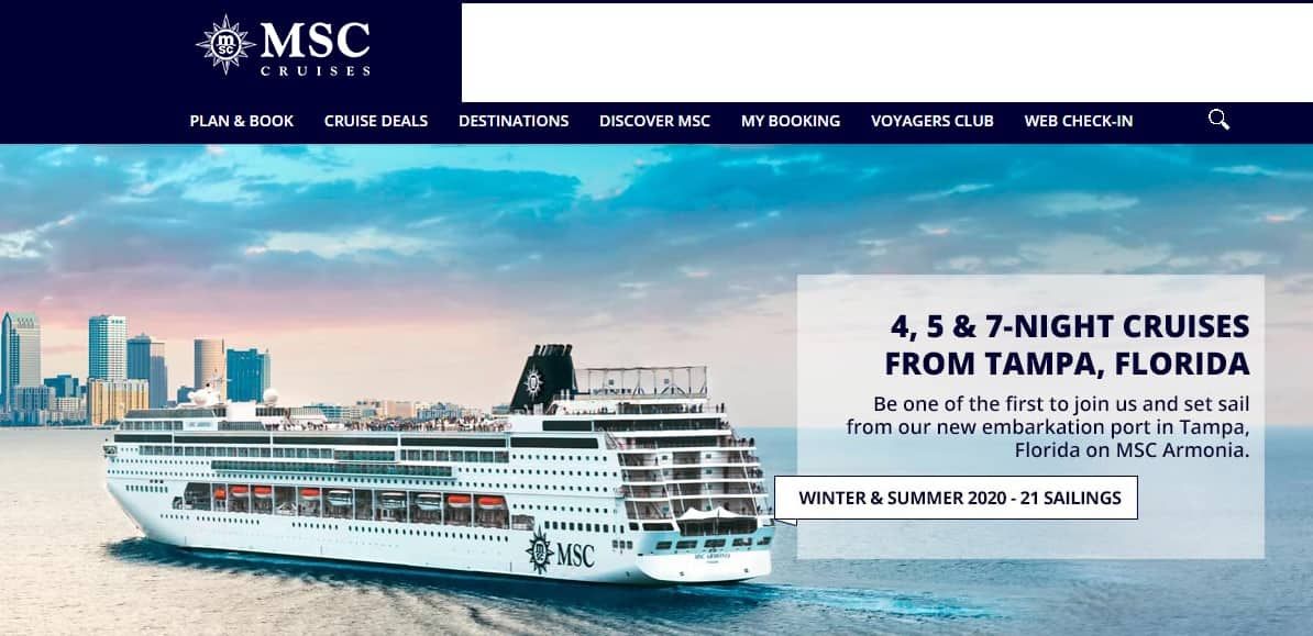 MSC Cruises Celebrates New Homeport in Tampa FL - 7 Night Cruises Starting from $299 PP Based on Dbl Occ