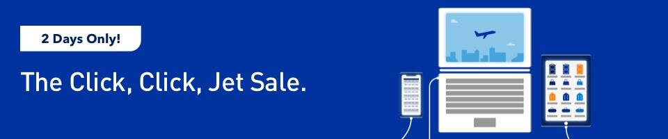 Jetblue Two-Days 'The Click Click Jet Sale' Airfares Starting from $39 One-Way - Book by Dec 3, 2019