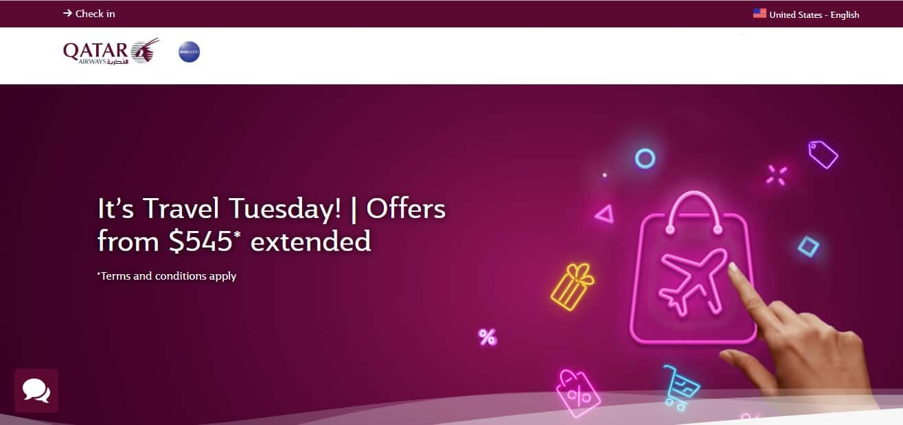 Qatar Airways Travel Tuesday Promotion - Airfares Starting From $545 RT - Book by Dec 4, 2019