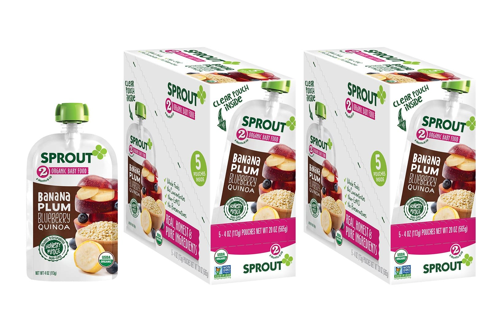Sprout Organic Baby Food Pouches Stage 2 & 3, 10-12 pack for $6.61-$8.99 after S&S