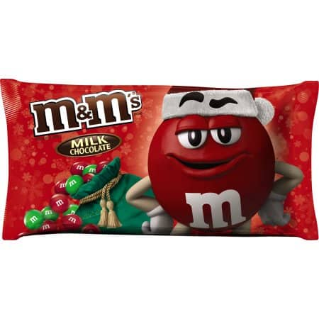 M&M'S Holiday Milk Chocolate Christmas Candy Bag, 11.4 oz Walmart   YMMV  IN STORE PRICE $0.71