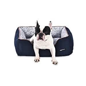 AmazonBasics Cuddler Bolster Pet Bed For Cats or Dogs $30.51