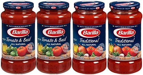 4-Count 24oz Barilla Pasta Sauce Variety Pack $6 + Free Shipping