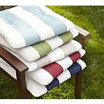 Pottery Barn Outdoor Tufted Solid Cushion: $8.97 - Striped Cushion: $9.97