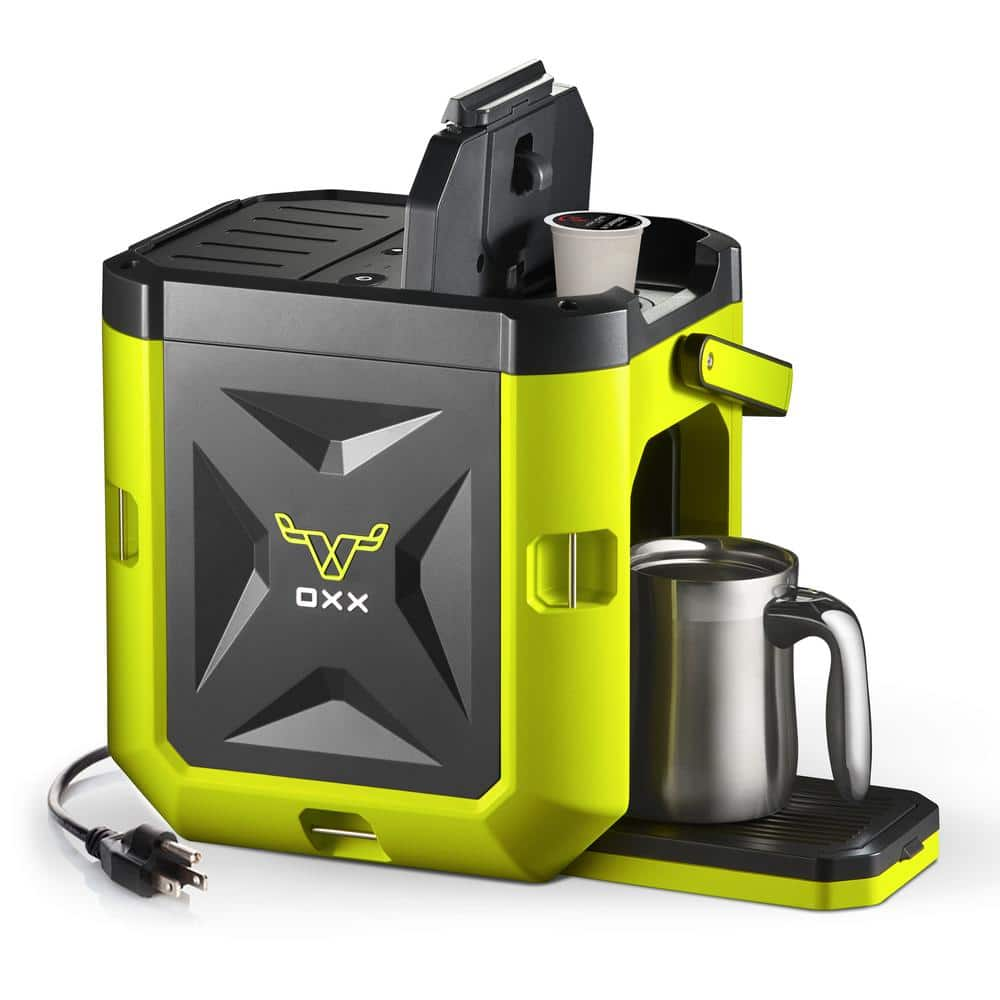 Oxx COFFEEBOXX Jobsite Coffee Maker in Green - $130 FS - Home Depot
