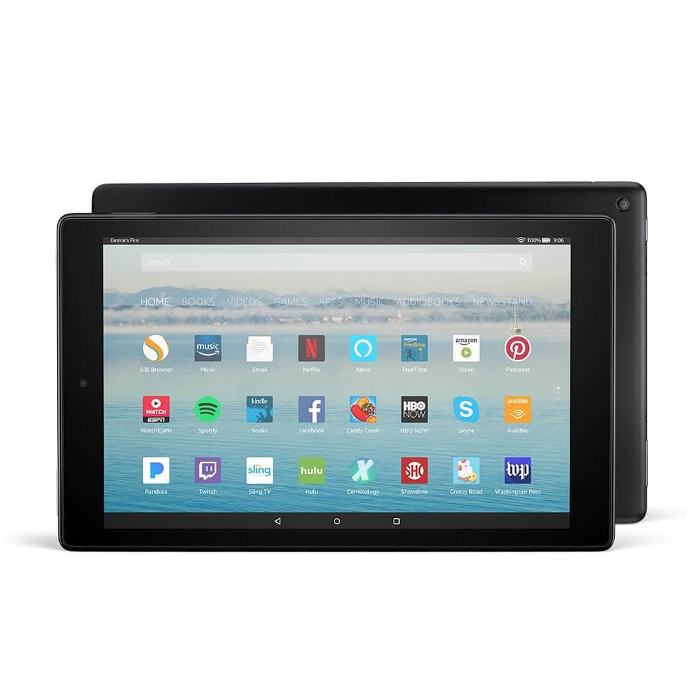 """Amazon Fire HD 10 Tablet with Alexa Hands-Free, 10.1"""" 1080p Full HD Display, Black - $99.99 FS - Target"""