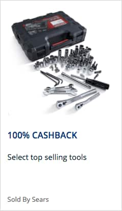 Sears Tools 100% Back in Points $50