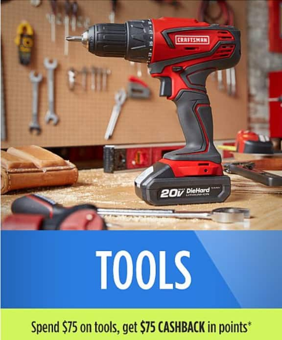 sears tools - spend $75 on tool, get 100% back in points - $75 ...