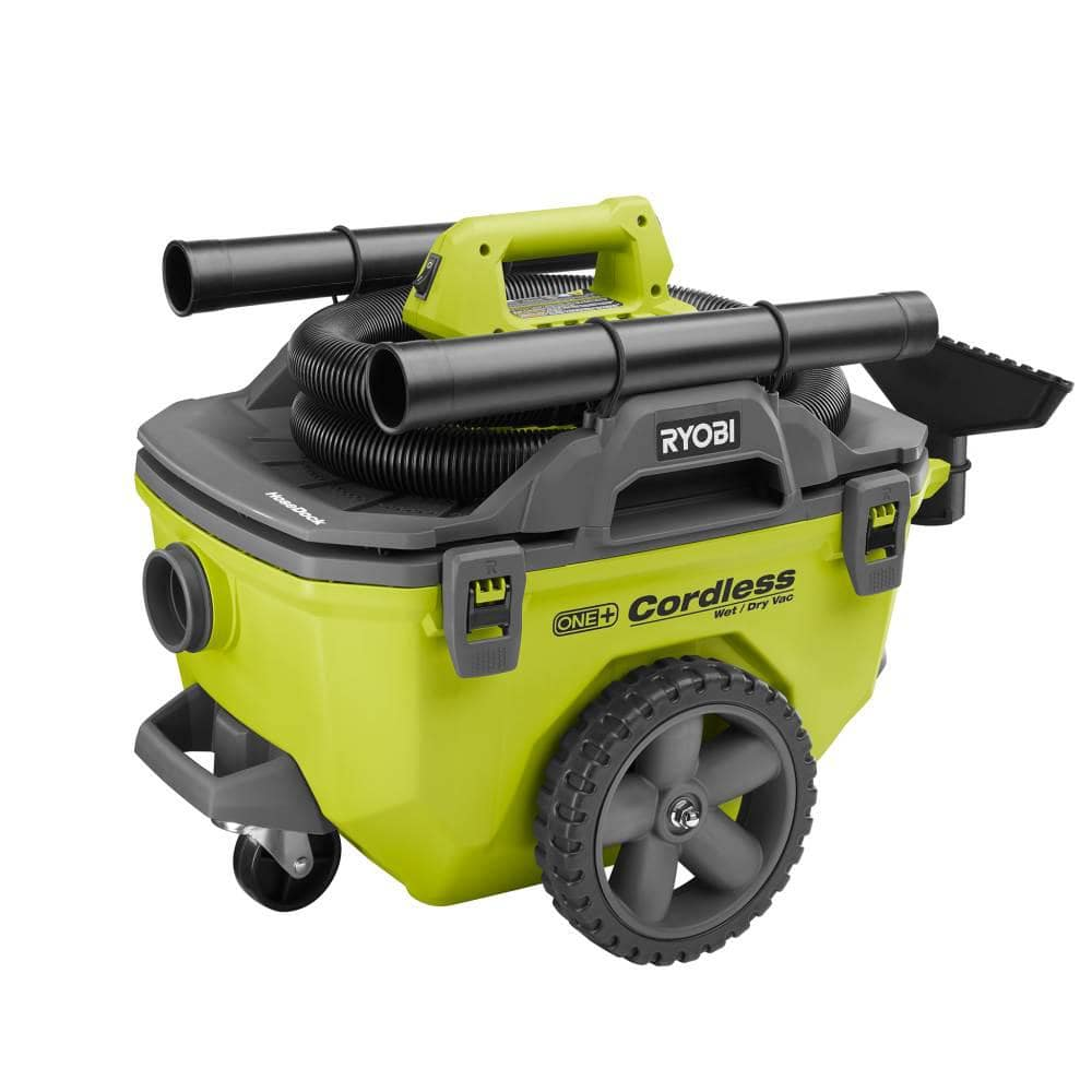 Ryobi 18-Volt ONE+ 6 Gal. Cordless Wet/Dry Vacuum (Tool Only) with Hose, Crevice Tool, Floor Nozzle and Extension Wand $89