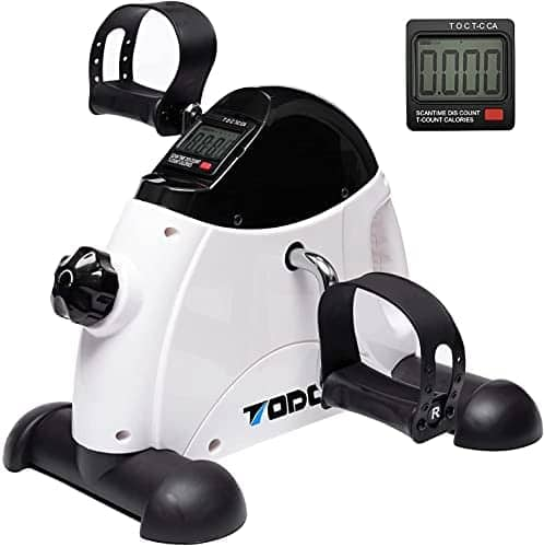 TODO Mini Exercise Bike Pedal Exerciser Foot Peddler Portable Therapy Bicycle with Digital Monitor $41.99