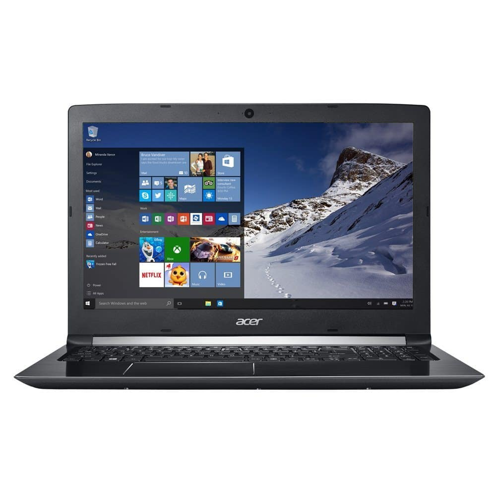 Acer Aspire 5 A515-51-596K 15.6 Laptop Computer - Black; Intel Core i5-8250U Processor 1.6GHz; Microsoft Windows 10 Home; 8GB DDR4 RAM; 256GB Solid State Drive For $529 B&M only