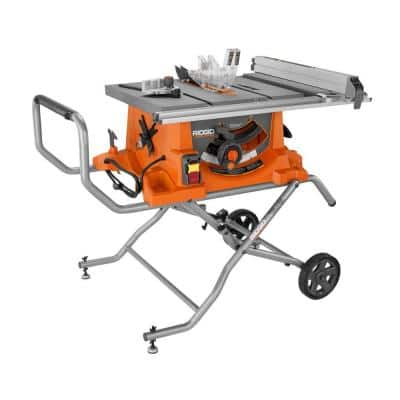 RIDGID R4513 15 Amp 10 in. Heavy-Duty Portable Table Saw with Stand $399 @ Home Depot