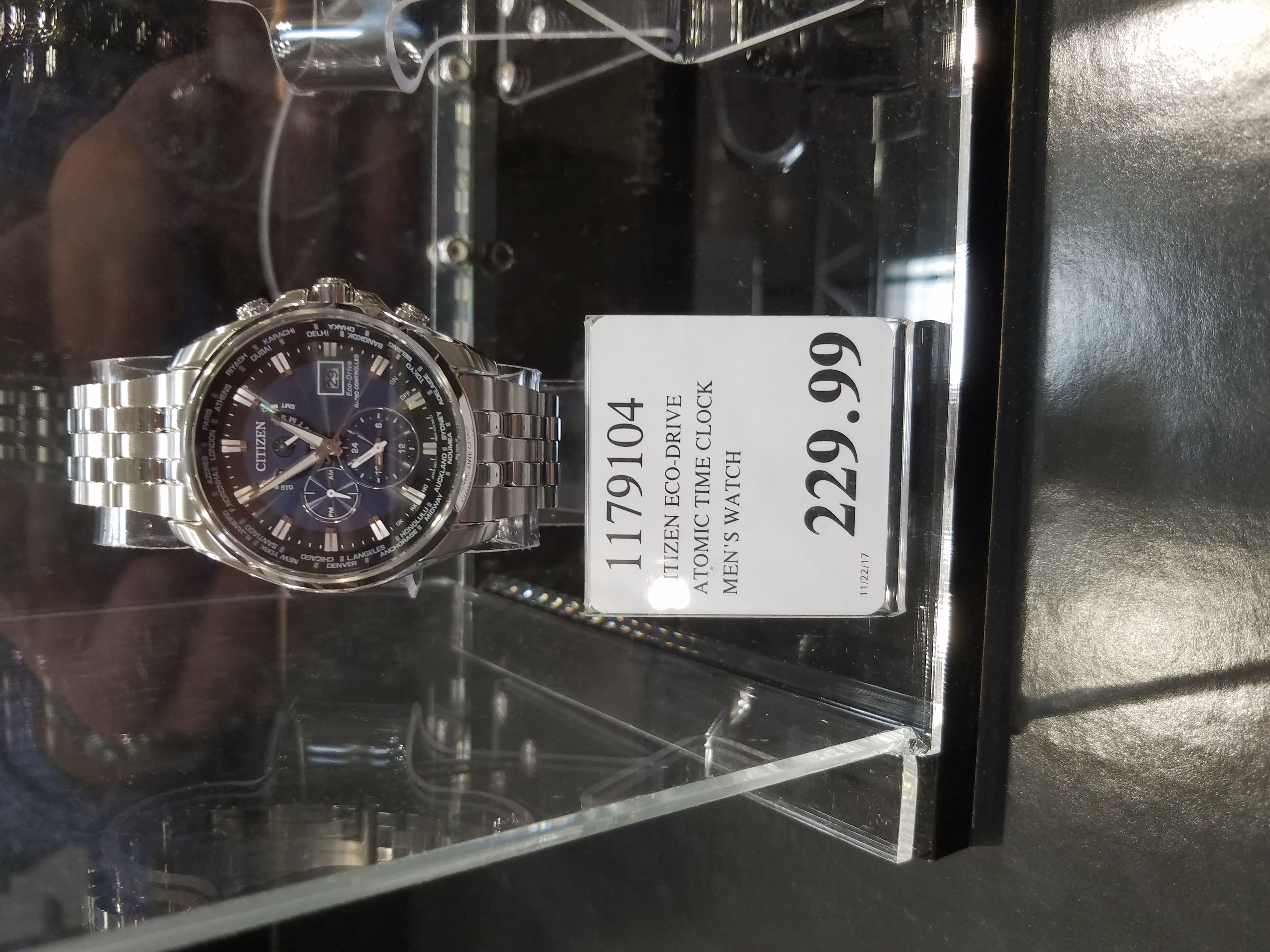 Citizen Eco-Drive Atomic WORLD TIME A-T Sapphire Crystal $230 @ Costco