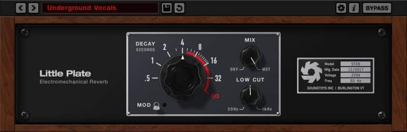 SoundToys Little Plate Reverb (AAX,VST,AU) - FREE