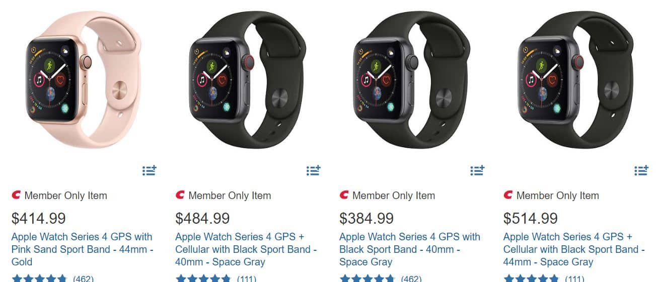 Apple watch series 3 and series 4 discount $384.99