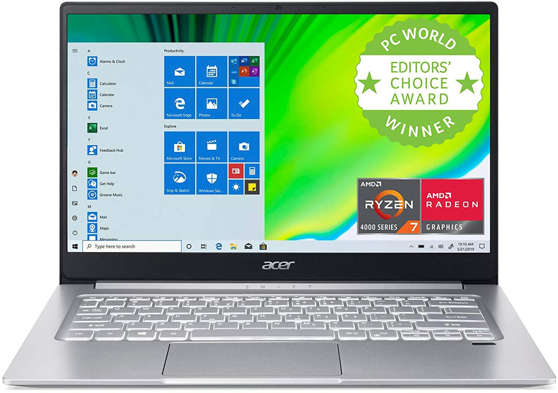 Amazon;Acer Swift 3, AMD Ryzen 7 4700U, 8GB LPDDR4, 512GB $499