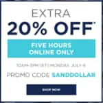 Extra 20% off at Kohls.com on July 6 10AM-3PM ET