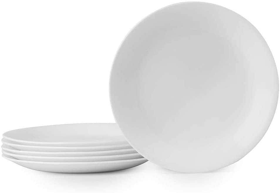 Amazon: Corelle Winter Frost White Lunch Plates Set (8-1/2-Inch, 6-Piece, White) $16.99 (instead of $25.90)