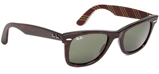 Ray-Ban Wayfarer Sunglasses (Tortoise) for $62- Free Shipping