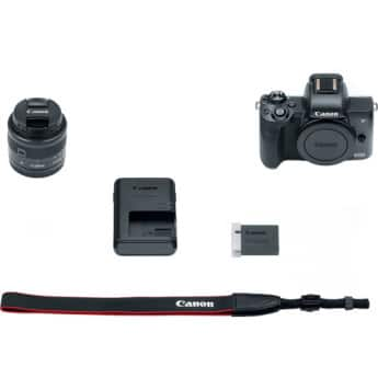Canon EOS M50 Mirrorless Digital Camera with 15-45mm Lens (Black) Model #2680C011 $625