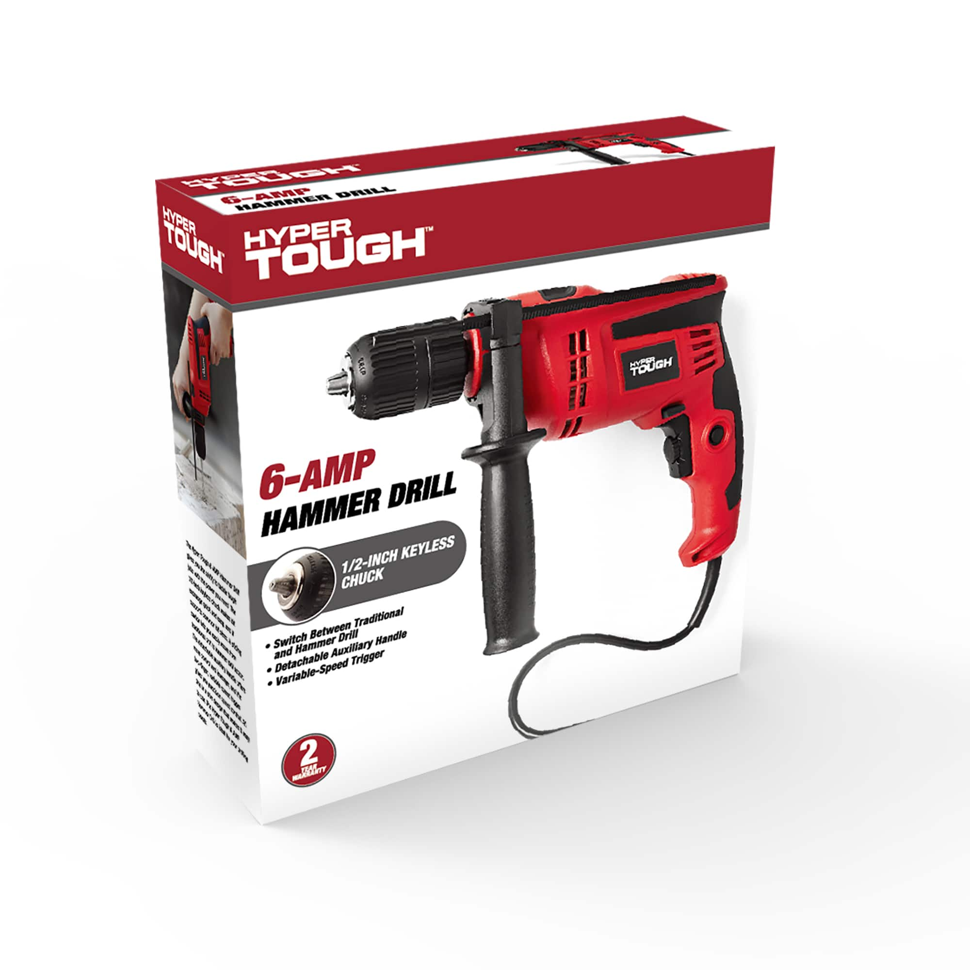 1/2-Inch  6.0-Amp Corded Hammer Drill $11.98 w/Free In-Store PU @ walmart