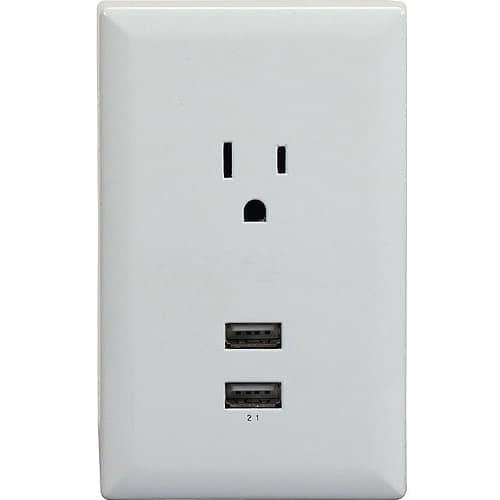 RCA Wall Plate with 2 - 2.1A USB Charging Ports $3.68 Was $9.52 w/free PU @ Walmart