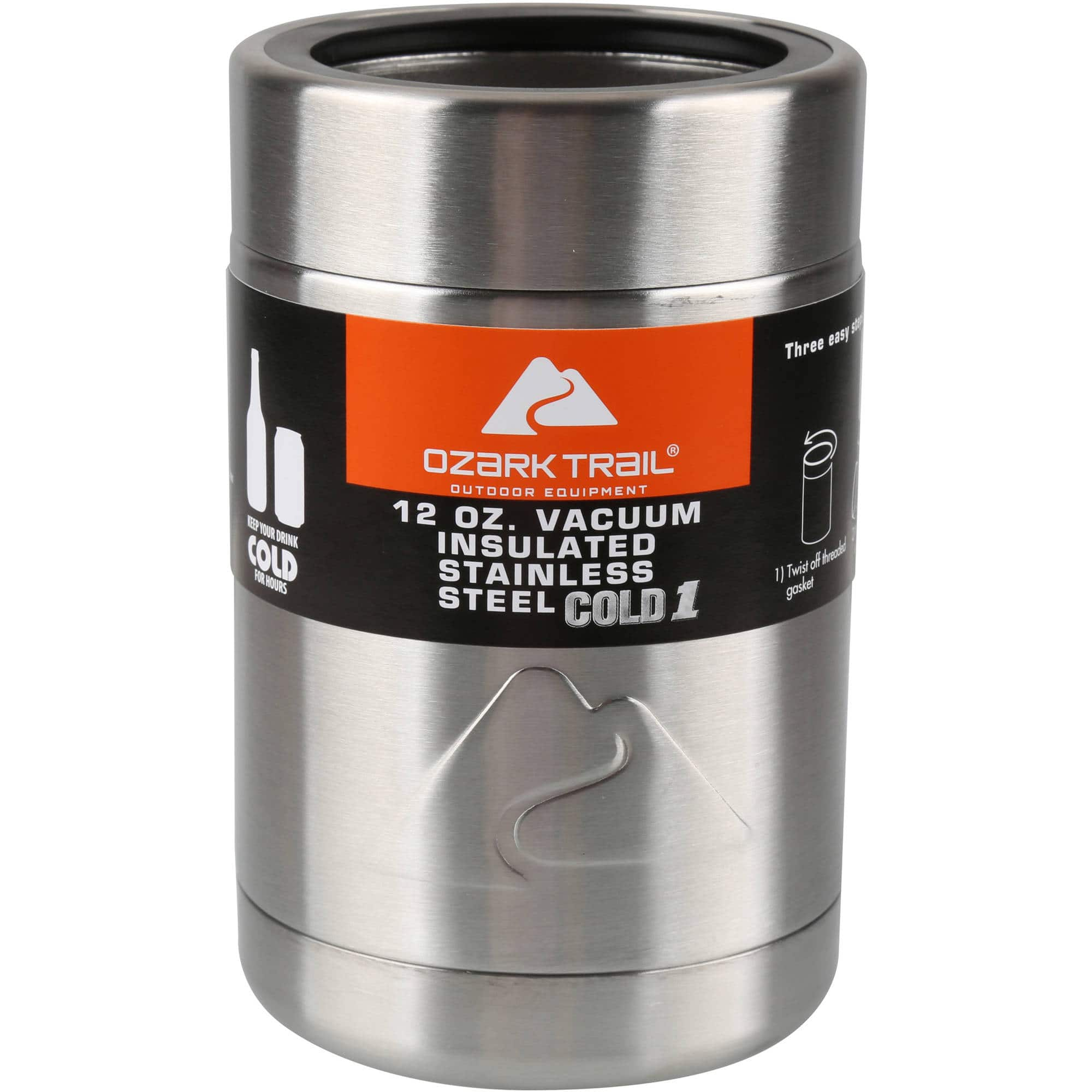 4c48f32d9da 12oz. Ozark Trail Stainless Steel Vacuum Insulated Can Cooler ...