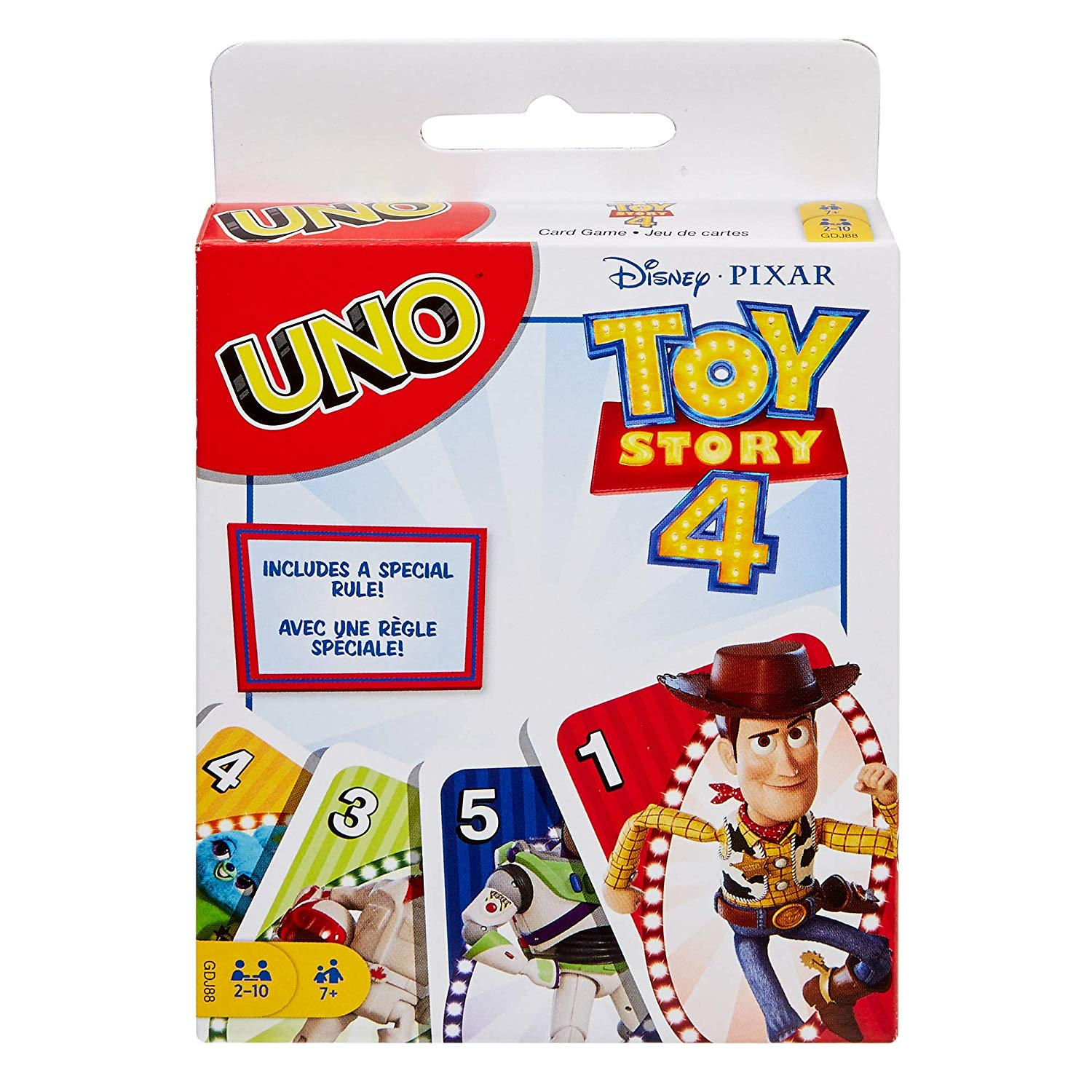 Toy Story 4 UNO card game $4 at Amazon, Walmart, Best Buy