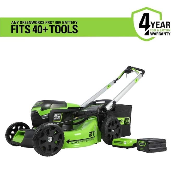 Greenworks 60V Max Brushless Li-Ion 21 inch Self-Propelled Lawn Mower w/ 5Ah Battery (YMMV in store) $399.99