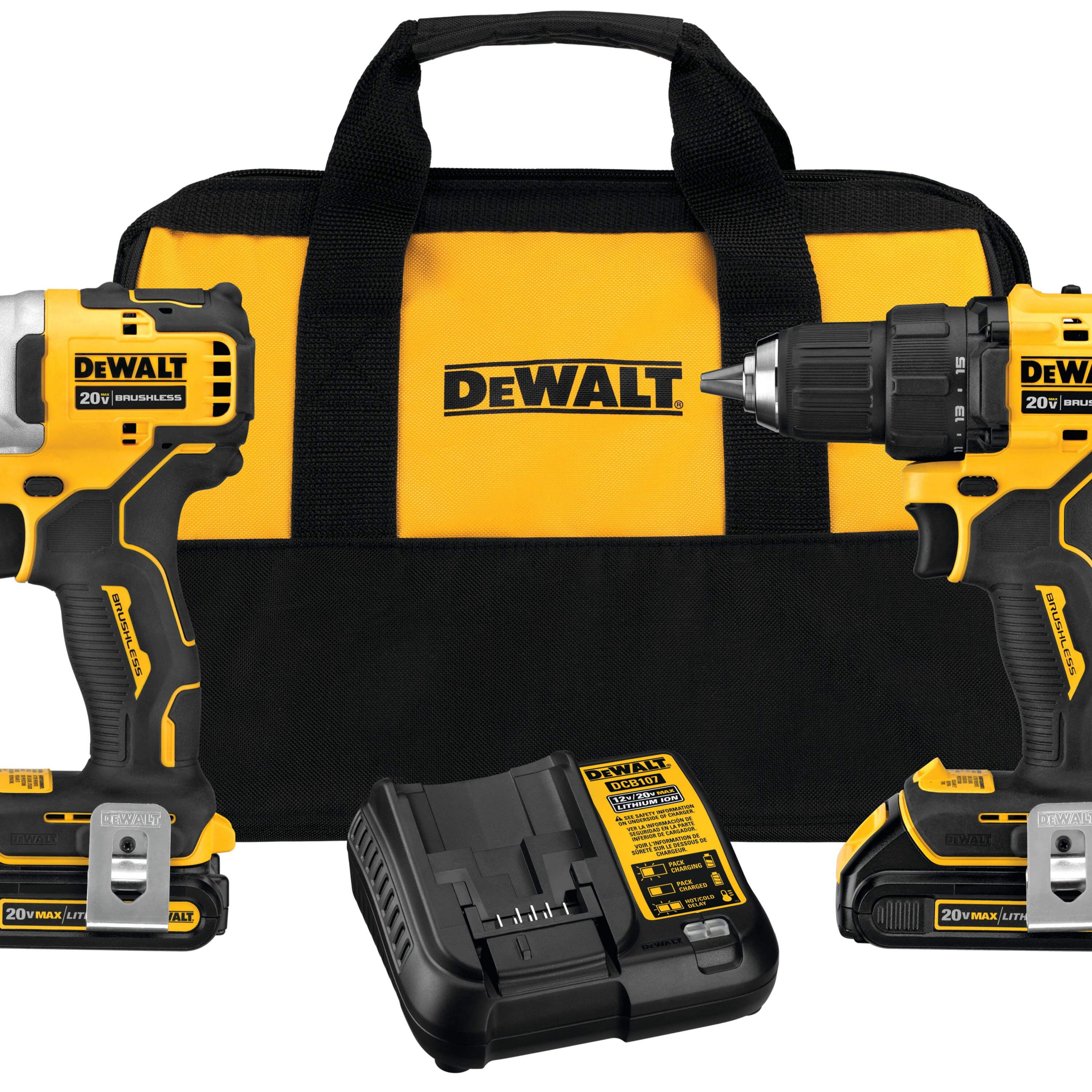 DeWalt 20V MAX Cordless Brushless Compact Drill & Impact Driver Combo -  $184.99 @ Ace Hardware