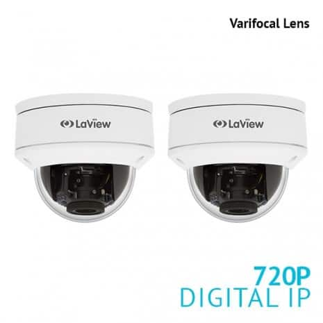 Laview Hikvision OEM 1 3 Varifocal PoE Dome cameras 2 for $49 99