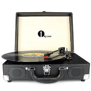 1byone 3-Speed Portable Suitcase Turntable(Black only) $39.99 AC @Amazon
