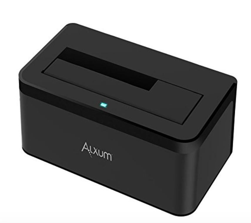 Alxum USB 3.0 To SATA Single Bay Hard Drive Docking Station $11.96 AC/Prime Free Shipping - Amazon