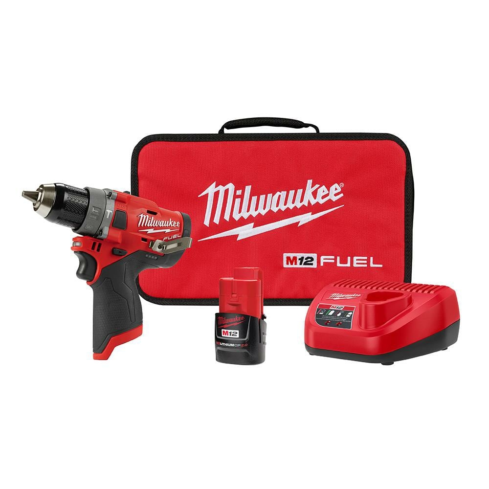 "Milwaukee M12 Fuel 1/2"" Hammer Drill/Driver Kit $89 YMMV"