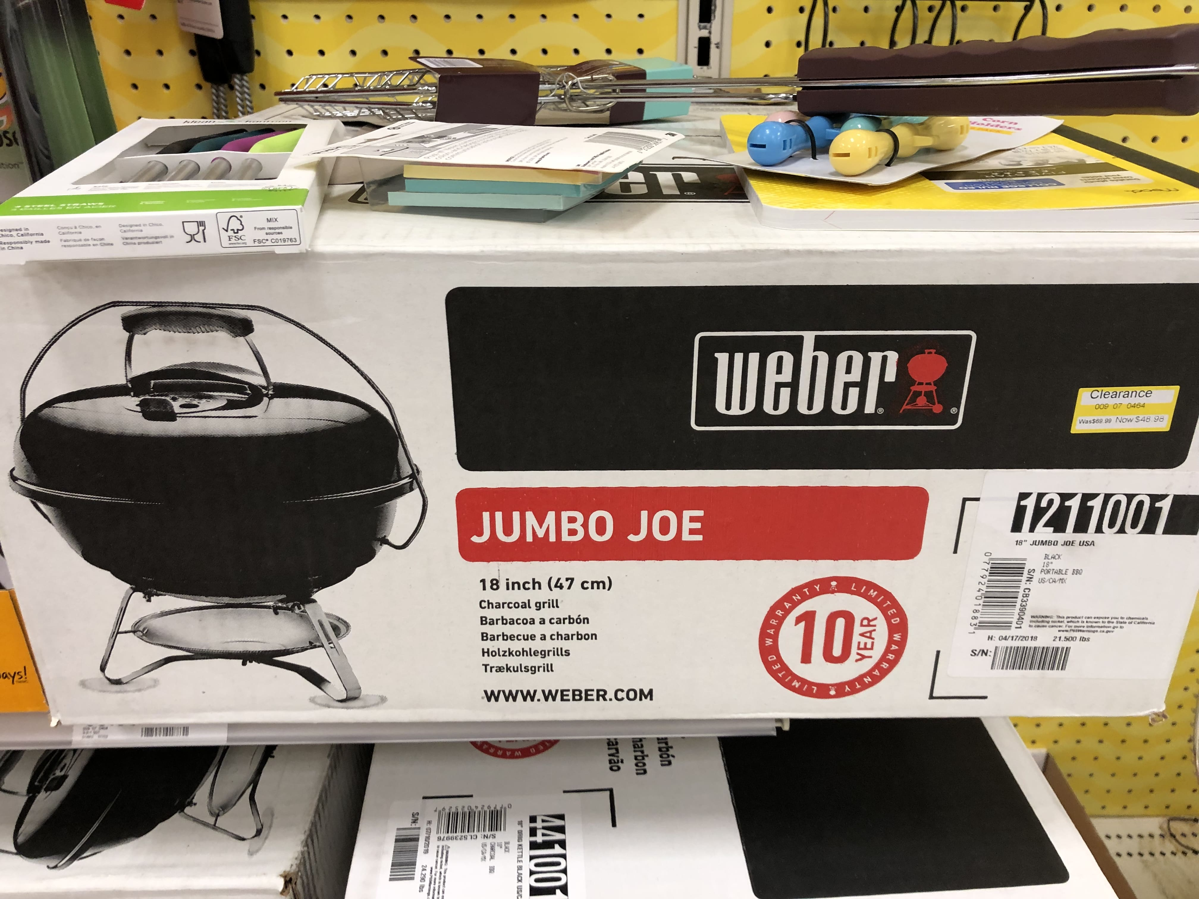 "Weber 18"" Jumbo Joe Charcoal Grill at Target $48.98 YMMV"