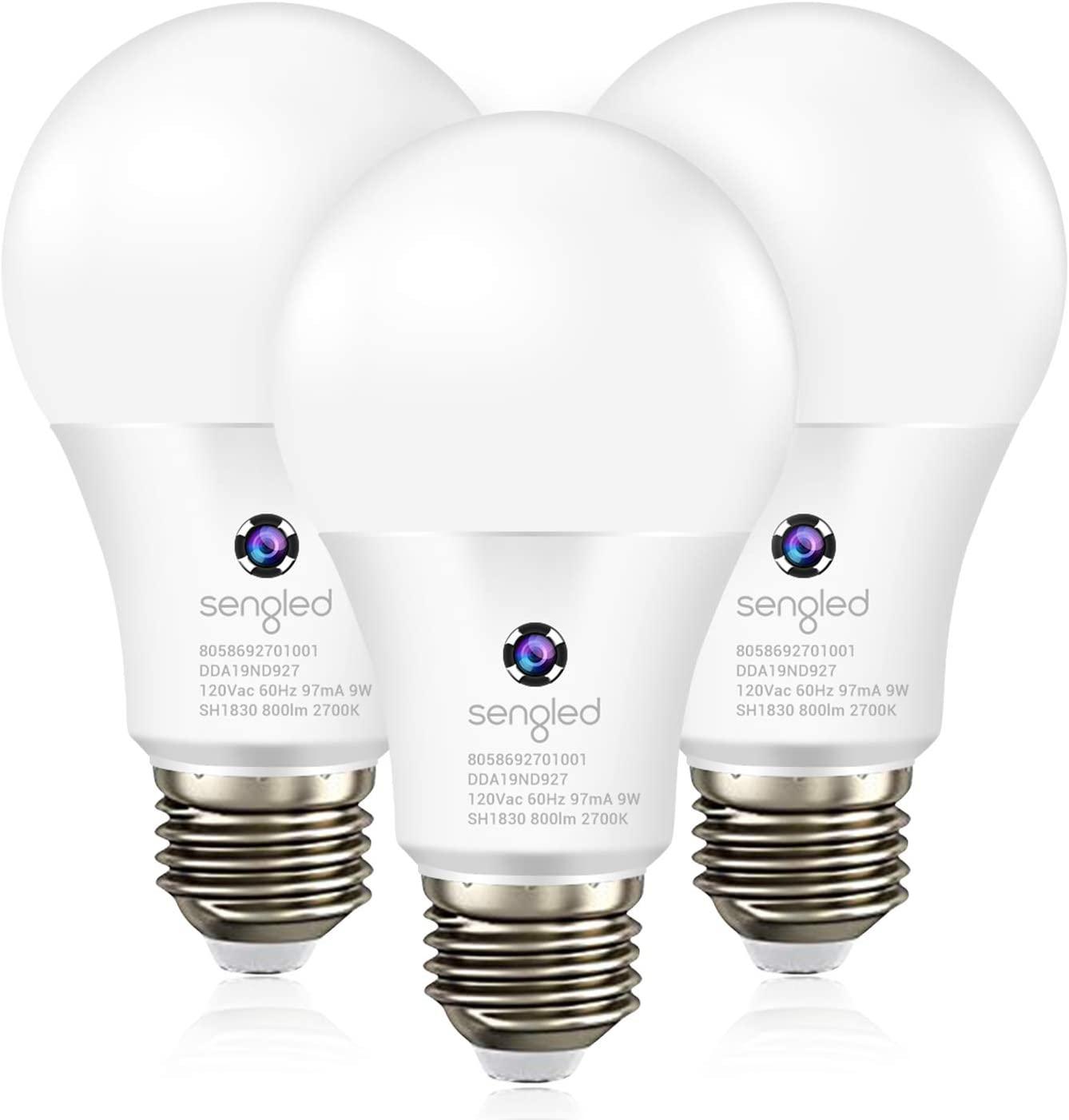 Sengled Dusk to Dawn Light Sensor Bulb Outdoor Indoor LED Photocell Sensor Light Bulb  3 Pack For 11.99